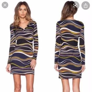 DVF Reina Marble Strip Dress Diane Von Furstenberg